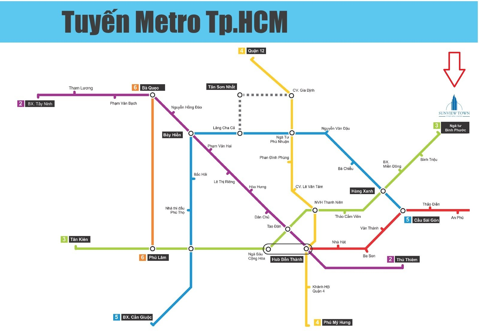 Tuyến metro Tp HCM - Sunview Town